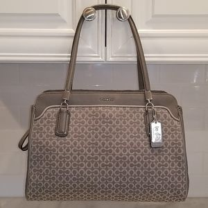 Coach Op Art Needlepoint Kimberly Carry All Tote